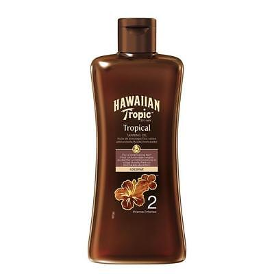 Hawaiian Tropic Tropical Tanning Oil SPF2 Intense, Coconut (200ml)