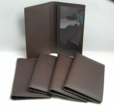 Mohawk Dark Brown Exceptional Quality Crafted Soft Nappa Leather Checkbook