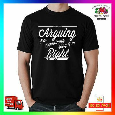 Im Not Arguing, Im Explaining Why Im Right Premium T-shirt Tee Tshirt Funny Cool