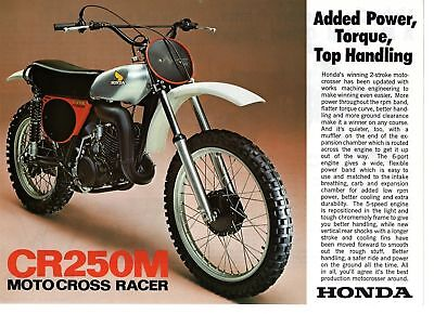 1975 HONDA CR250M1 Motorcycle Brochure NCS