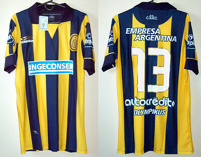 ROSARIO CENTRAL jersey PLAYER ISSUE Home #13 ABREU Olympikus Sz M