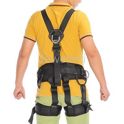 Black Full Body Safety Harness For Rock Climbing / Rope Access/ Tree Surgery