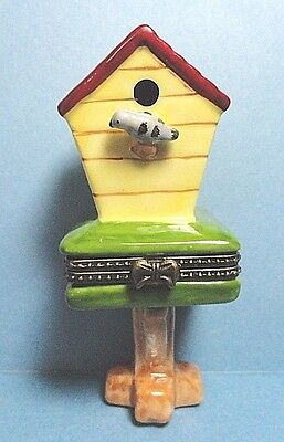 Porcelain Bird House Hinged Trinket Box