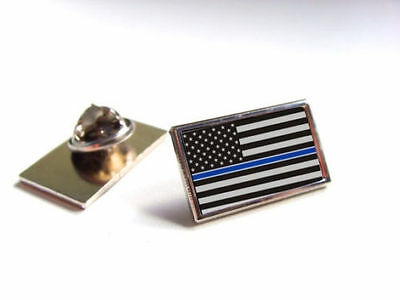 2 Thin Blue Line American Flag Police Support Blue Lives Matter Lapel Pin Tack