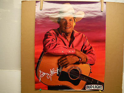 George Strait Country Music Bud Light Vintage Poster
