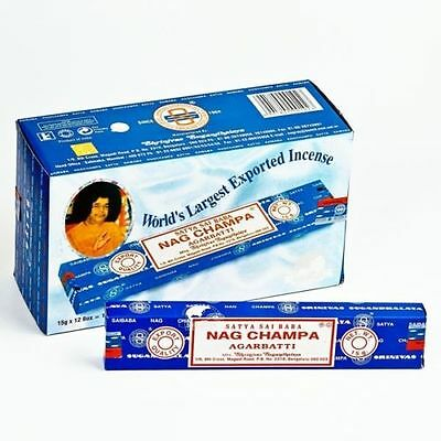 Original Satya Sai Baba Nag Champa Incense Sticks 12/24/48 Genuine 15G