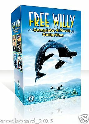FREE WILLY COMPLETE MOVIE COLLECTION PART 1 2 3 4 ALL FILM New DVD R2 UK Release