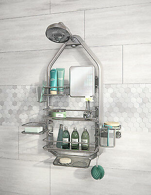 O2 Hanging Shower Caddy with 5 Basket and 1 Mirror / easy to install