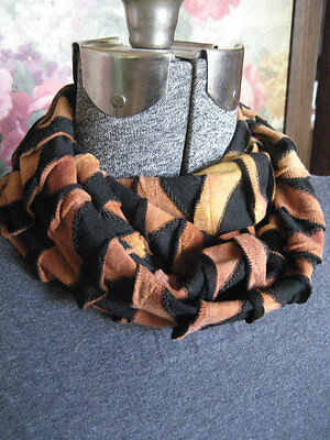 Black Brown Rust tiger stripe Toddler kids SMALL PHOTO PROP soft Infinity Scarf