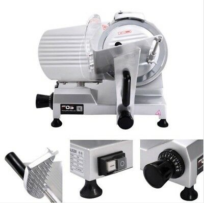 """Commercial Meat Slicer Food Cheese Electric Cutter 10"""" Blade 150w High Quality"""