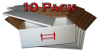 "Insulated Shipping Box  30"" x 16"" x 10""  - 10 Pack   With 3/4"" Foam  $14.75 each"