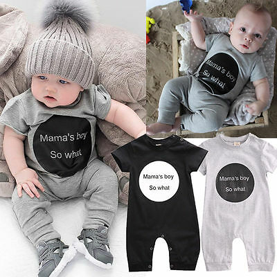 Newborn Infant Baby Girl Boy Clothes Bodysuit Romper Jumpsuit Playsuit Outfits