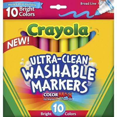 Crayola Ultra Clean Washable Markers Bright Colours Made In The Usa