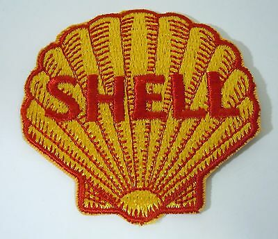 SHELL OIL Embroidered Iron On Uniform-Jacket Patch 3""