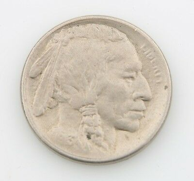 1913-S US Buffalo Nickel AU 5c Type 1 San Francisco About Uncirculated KM#133