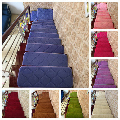 13pcs 20*40/60cm Rectangle Rug Pure Color Hallway Carpet Stair Stepping Pad Mats