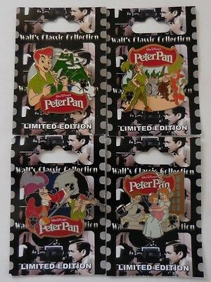 Disney Pin DLR Walt's Classic Collection Peter Pan set of 4 Pins LE1000