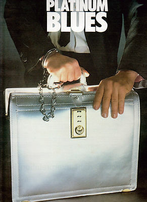 Blues Brothers Music Ad Platinum Hit Album Briefcase Full Page Color Advert