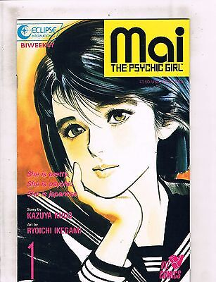 Lot Of 9 Mai The Psychic Girl Eclipse Viz Comic Books # 1 2 3 4 5 6 7 8 9 HJ5