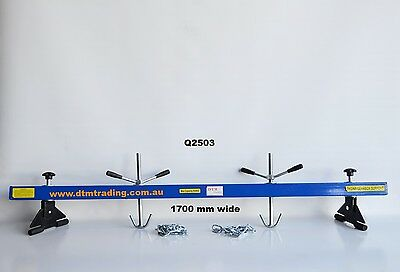 ENGINE SUPPORT BEAM EXTRA WIDE 1700mm 2 x HOOKS & CHAINS NEW, @ DTM TRADING