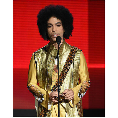 Prince Close Up Glam with Beautiful Eyes Speaking into Mic 8 x 10 inch photo
