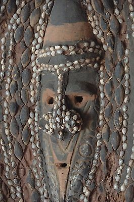 Old Papua New Guinea Woven Sepik River Abelam Yam Mask...