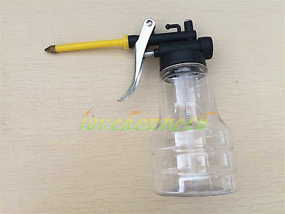Pump Oiler Hydraulic Squirt Oil Can Lubricating Lathe Short Spout nozzle 250ml