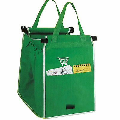Grab Bag 1 Pack Reusable Ecofriendly Shopping Bag That Clips To Your Cart BYWG