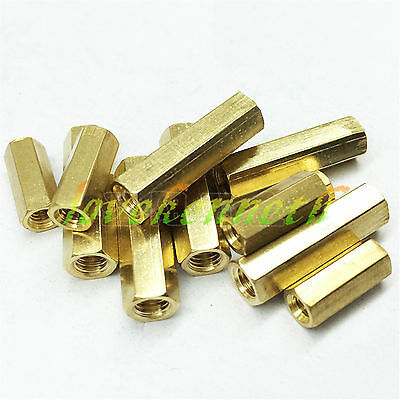 10/20/50 pc M3 Brass Threaded Hex Double Pass Spacer Copper Column Support Nut