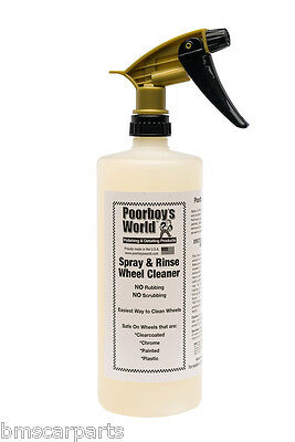 Poorboy's Spray & Rinse Wheel Cleaner with spray head 32oz (946ml)