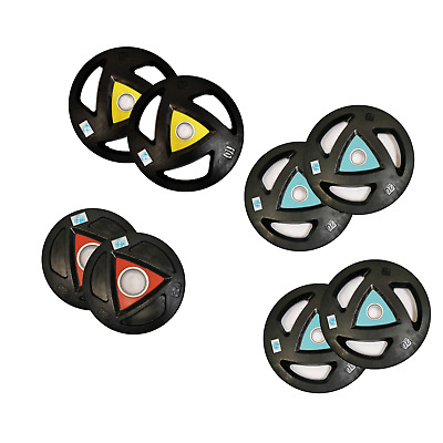 FH OLYMPIC WEIGHT PLATES 1.25-20KG RUBBER DISCS WEIGHTS EXERCISE GYM FITNESS 2pc