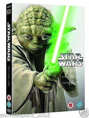 Star Wars The Prequel Trilogy Episode 1 2 3 Box Set | New | Sealed | DVD | UK
