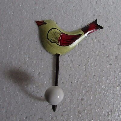 Iron Handcrafted Bird Design Hand Painted Wall Hook Hanger Wall Decor India
