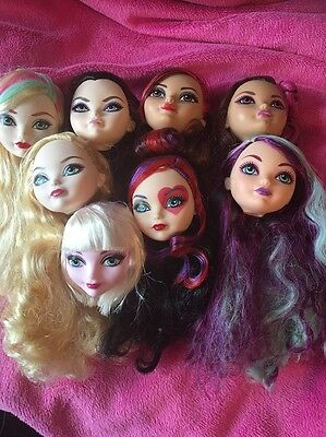��Ever After High Bundle Of 8  Replacement Heads Brand New!��