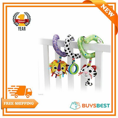 Lamaze Activity Spiral Babies Textured Soft Toys Rattle Hanging Buggy Cot 23923