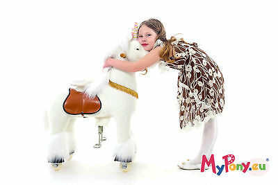 "Ponycycle ""Shooting star"" Unicorn small Pony Rocking Horse horse on casters PONY"