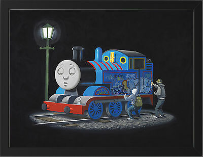 Banksy Thomas Tank Engine New A3 Framed Photographic Print Poster