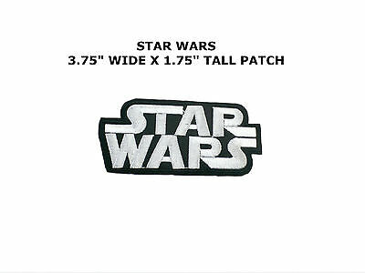Starwars Star Wars Logo Embroidery Iron On Patch Badge White