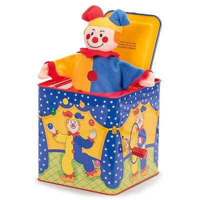 Traditional Jester Pop Up Jack In The Box - Toy Musical Circus Style Clown
