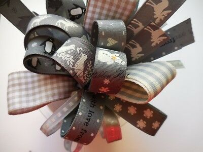 Cottage Christmas Ribbon Bundle 8 X 1Mtrs Made from Berisfords Ribbons