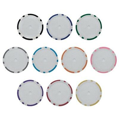 NEW 1000 Blank 8 Stripe 14 Gram Clay Poker Chips Bulk Lot Select Your Colors