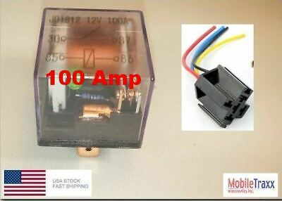 100-AMP 4-pin Relay SPST Waterproof Heavy Duty 12VDC With Harness