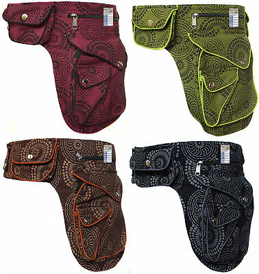 Cotton Waist Popper Fanny Bag Travel Holiday Pack Hippie Outdoor Wrap Pocket