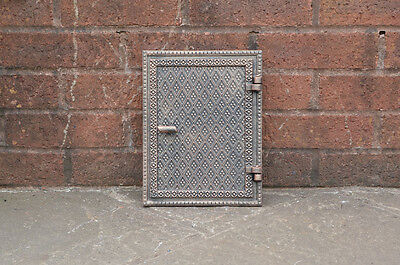 cast iron fire door clay/bread oven door/pizza smoke house old copper finish