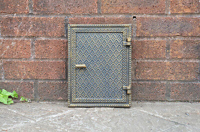 cast iron fire door clay/bread oven door/pizza smoke house old gold finish