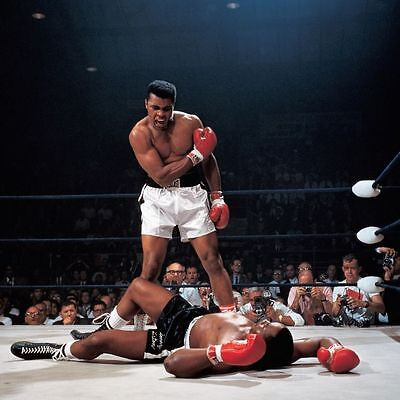 MUHAMMAD ALI VS SONNY LISTON BOXING Poster - 24 INCH X 31 INCH size #002