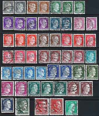 GERMANY WWII War Deutsches Reich HITLER Selected Cancel Collection Postage USED
