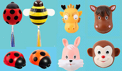 Kids Cartoon Animal Suction Sucker Cup Cover Toothbrush Wall Holder 7 Designs