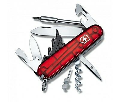 Couteau suisse Victorinox 16 pièces CYBER TOOL rouge translucide