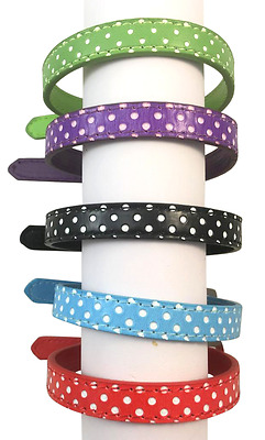 Dog Collar Pet Puppy Adjustable Neck Strap Buckle Bling Tag PU Leather New